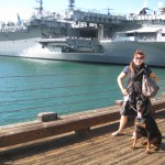 Strider and I visitng the The USS Midway Museum at Navy Peir San Diego