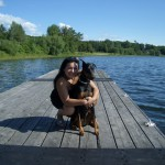 Lily and I in Muskoka